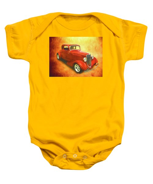 1934 Ford On Fire Baby Onesie