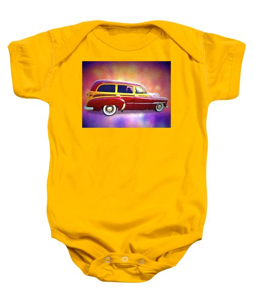 1951 Chevy Woody Sideview Baby Onesie