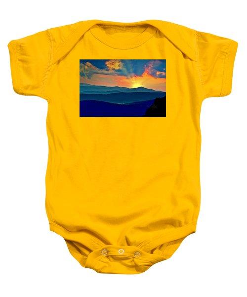 Blue Ridge Mountains Sunset Baby Onesie
