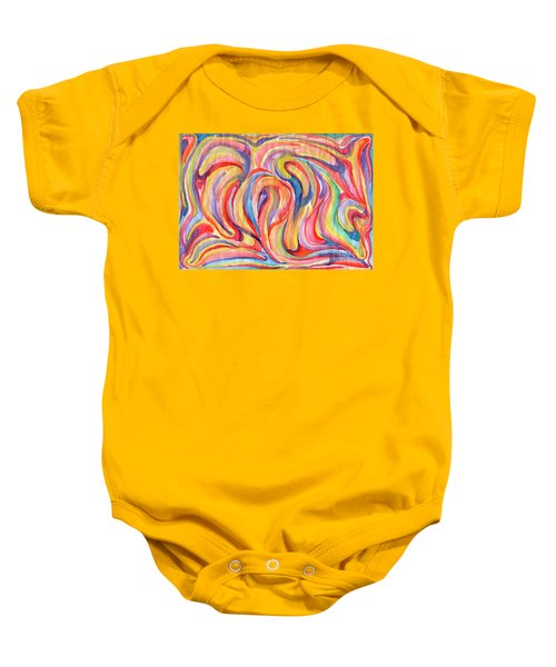 Abstraction In Autumn Colors Baby Onesie