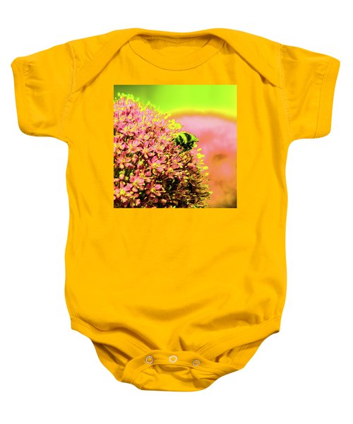Allium With Bee 1 Baby Onesie