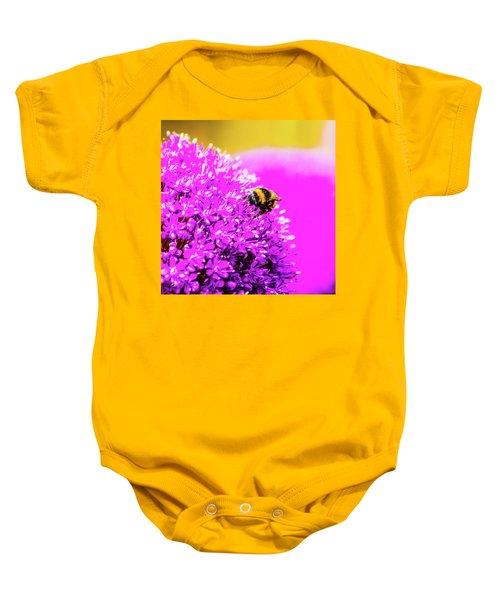 Allium With Bee 2 Baby Onesie