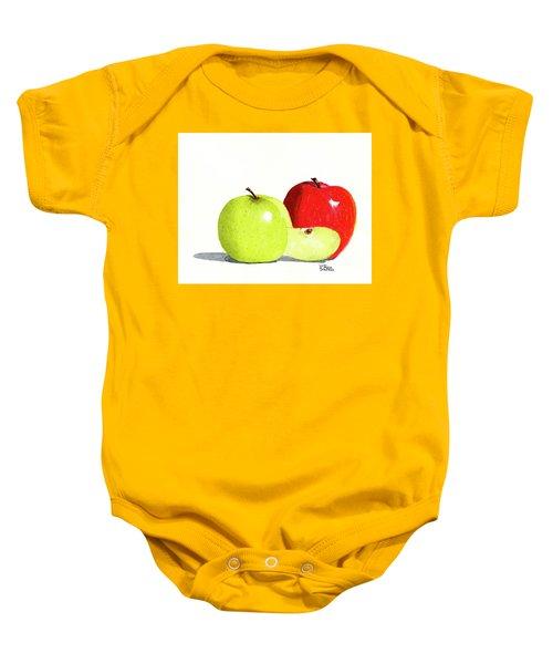 An Apple A Day Baby Onesie