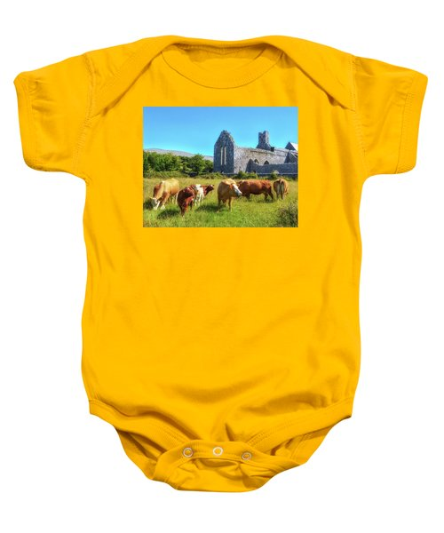 Ancient Cows Baby Onesie