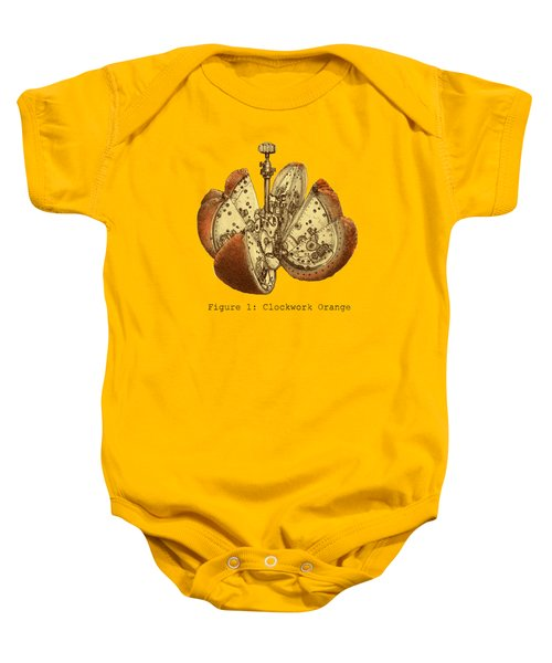 Steampunk Orange Baby Onesie
