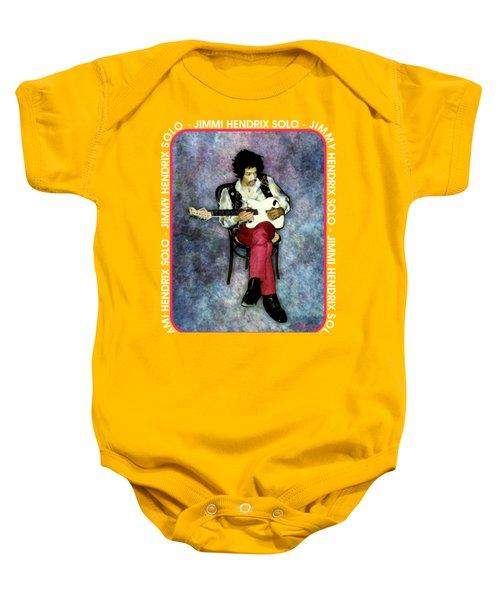 Jimi Hendrix Solo Baby Onesie