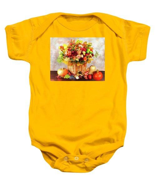 Autum Harvest Baby Onesie