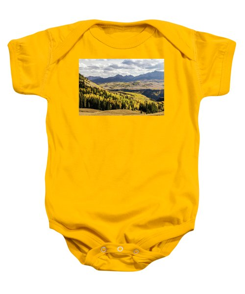 Baby Onesie featuring the photograph Autumn Season View Of Sneffles Ten Peak by James BO Insogna