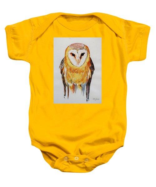Barn Owl Drip Baby Onesie