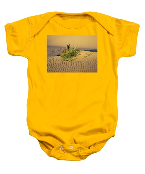 Beachgrass And Ripples Baby Onesie