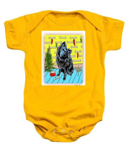 Bear Paw Holiday Baby Onesie