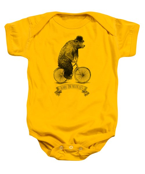 Bears On Bicycles Baby Onesie