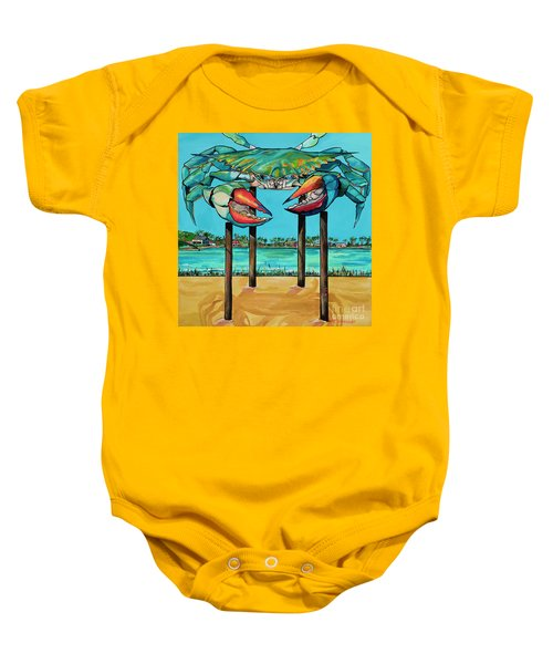 Big Blue Crab Rockport Baby Onesie