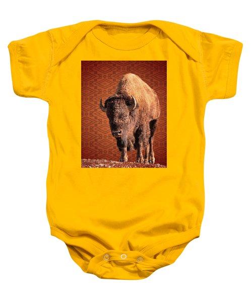 Bison Blanket Baby Onesie