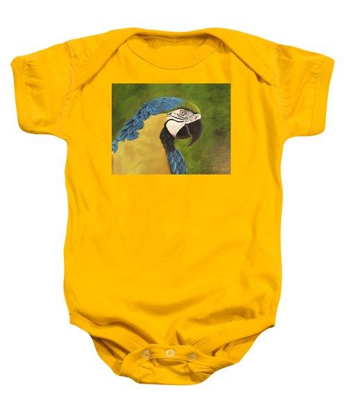 Blue And Gold Mccaw Baby Onesie