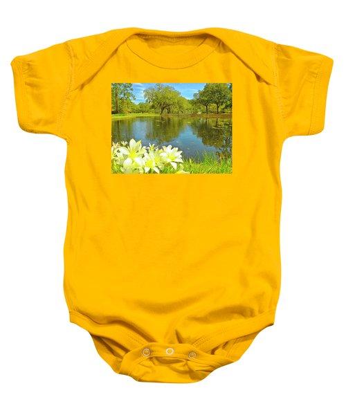 Botanical Gardens Pond Baby Onesie