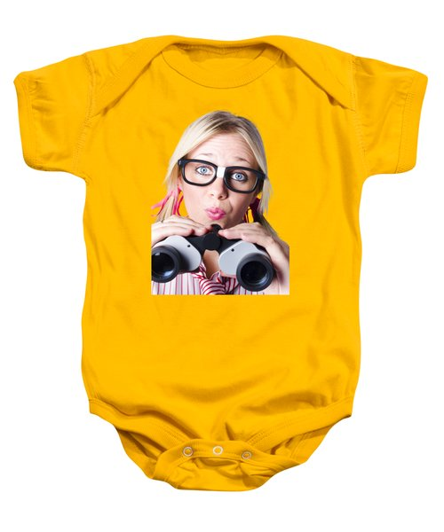 Baby Onesie featuring the photograph Brainy Businesswoman Looking To Future Development by Jorgo Photography - Wall Art Gallery