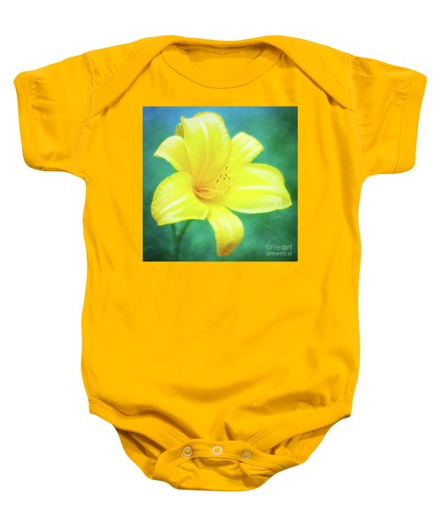 Buttered Popcorn Daylily In Her Glory Baby Onesie