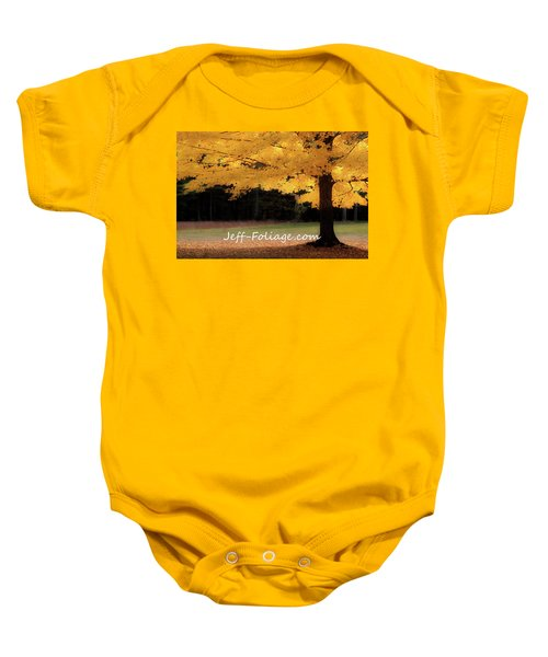 Canopy Of Gold Fall Colors Baby Onesie