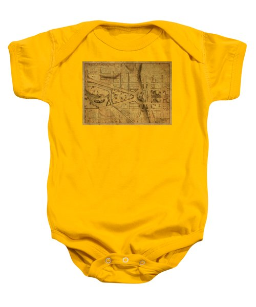 Capitol Grounds Washington Dc Vintage City Street Map 1815 Baby Onesie