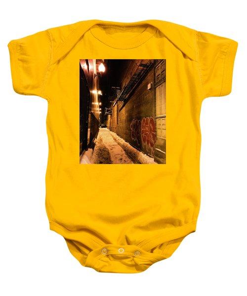 Chicago Alleyway At Night Baby Onesie