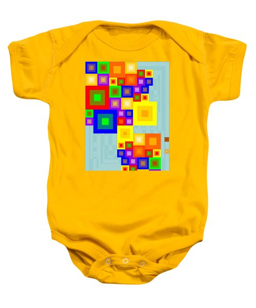 Colourful Cubism  Baby Onesie