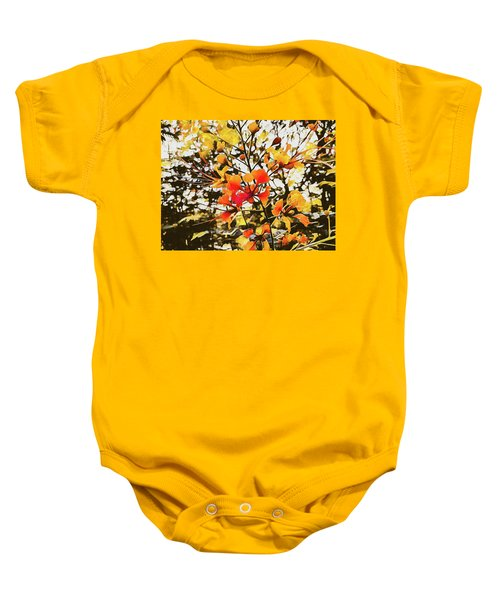 Colourful Leaves Baby Onesie