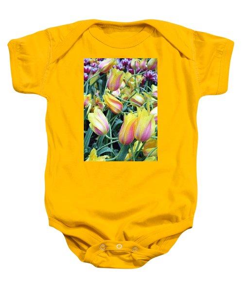 Crazy Tulips Baby Onesie