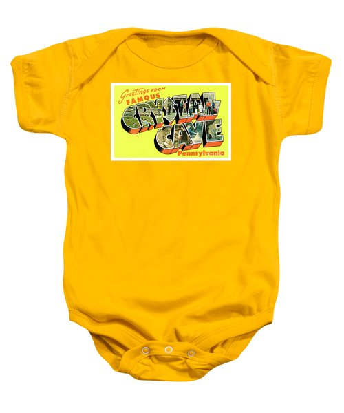 Crystal Cave Greetings Baby Onesie
