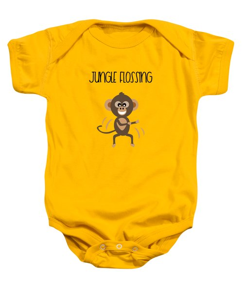 Cute Animal Monkey Jungle Flossing  Baby Onesie