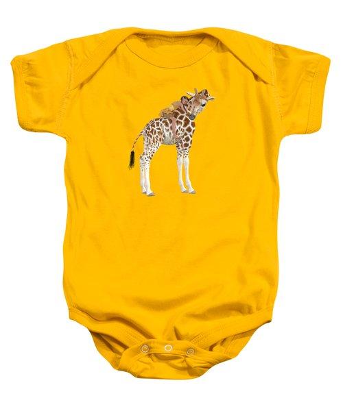 Daydreaming Of Giraffes Png Baby Onesie