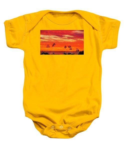 Del Mar Sunset Baby Onesie