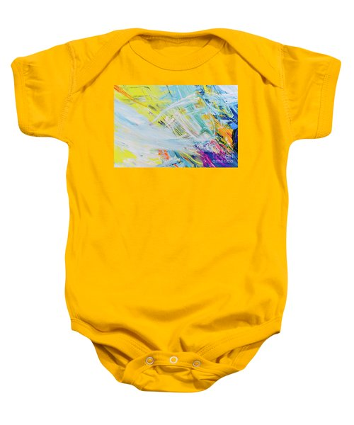 Detail Of Brush Strokes Of Random Colors To Use As Background An Baby Onesie
