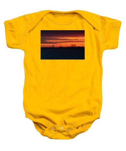 Egmont Key Lighthouse Sunset Baby Onesie