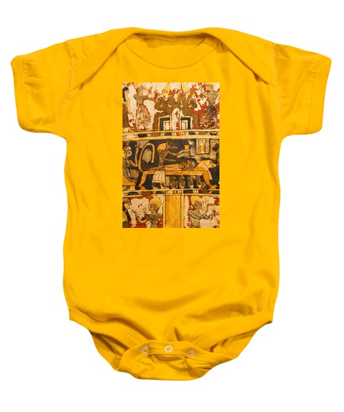 Egyptian Wall Art Baby Onesie