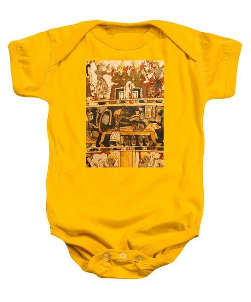 Egyptian Wall Art Baby Onesie