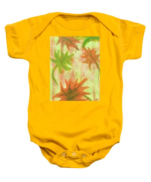 Fanciful Fall Leaves Baby Onesie