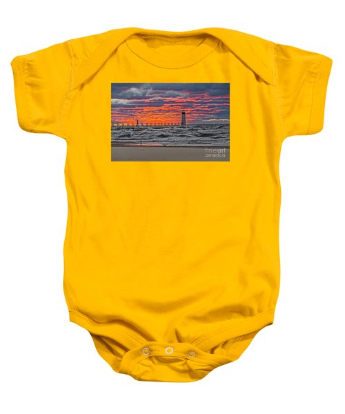 First Day Of Fall Sunset Baby Onesie