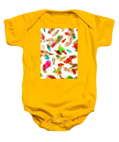 Floating In Colourful Abstract Baby Onesie
