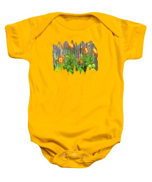 Flowers And Artichokes Baby Onesie