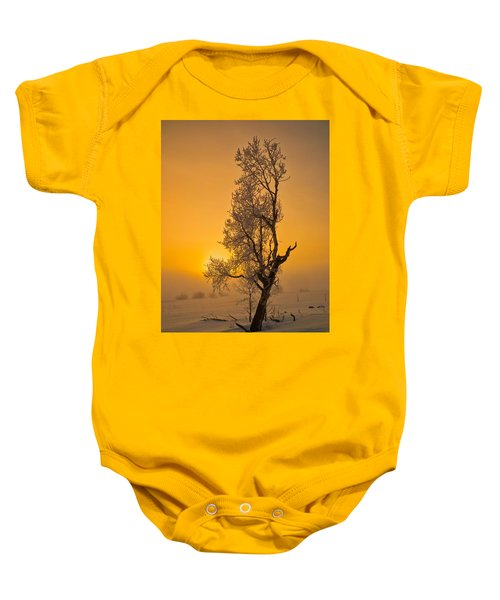 Frosted Tree Baby Onesie