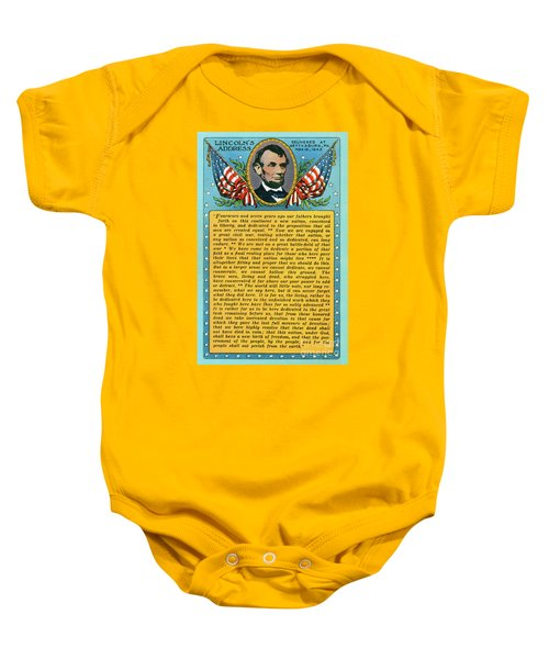 Gettysburg Address By Abraham Lincoln Baby Onesie