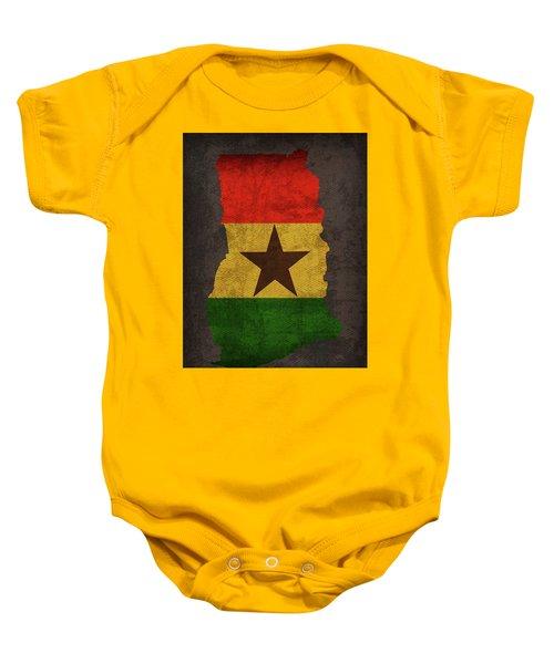 Ghana Country Flag Map Baby Onesie