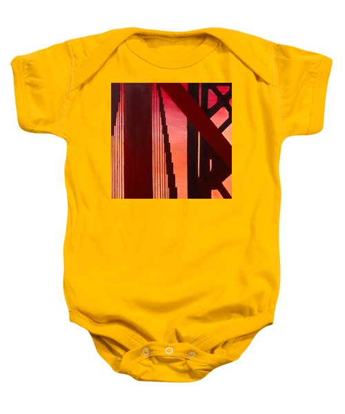 Golden Gate Art Deco Masterpiece Baby Onesie