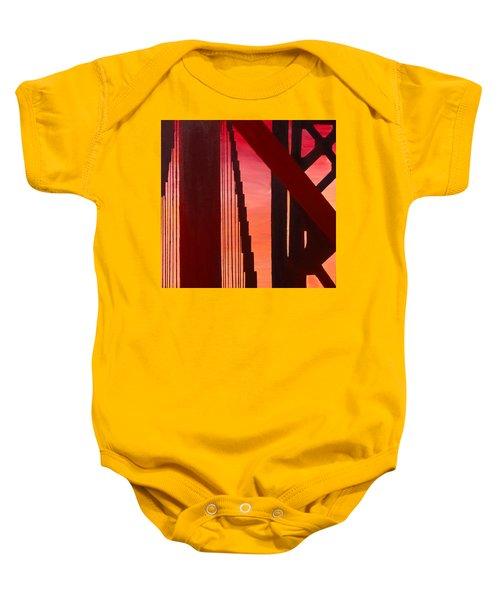 Golden Gate Art Deco Masterpiece Baby Onesie