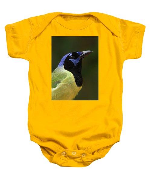 Green Jay Portrait Baby Onesie