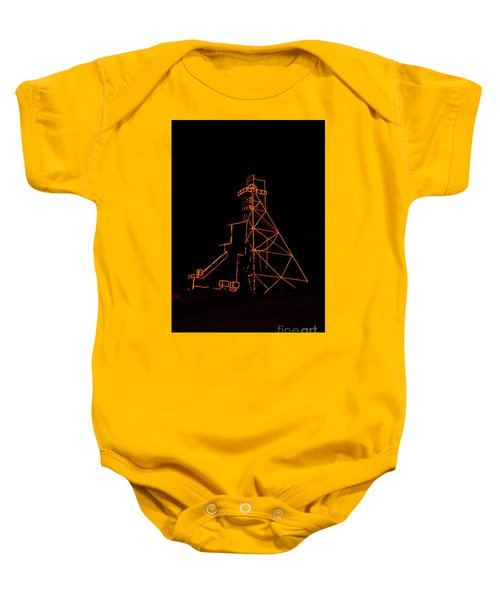 Headframe Lit For The Holidays Baby Onesie