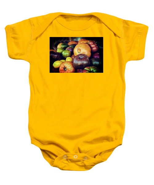 Heirloom Tomatoes At The Farmers Market Baby Onesie