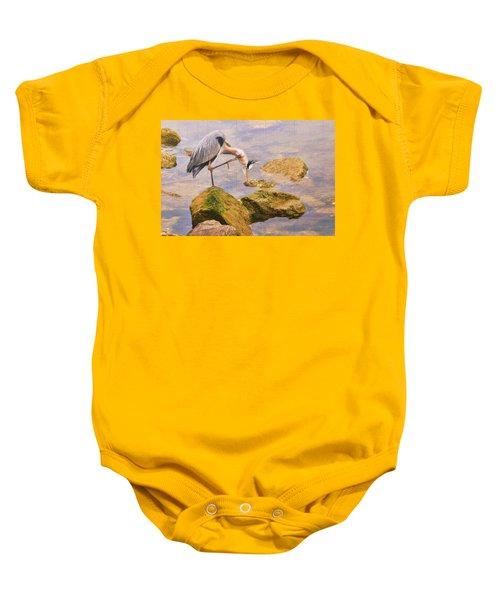 Itchy  Neck Heron Baby Onesie