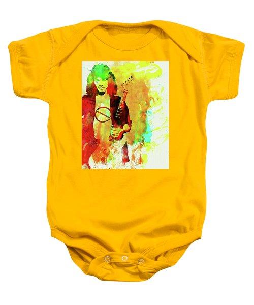 b19bbc2f2 Legendary Eddie Van Halen Watercolor Baby Onesie